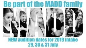 MADD Auditions Flyer 2019